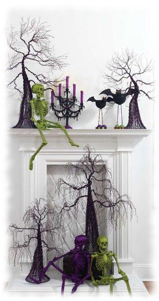 Decoración de Halloween para Chimenea