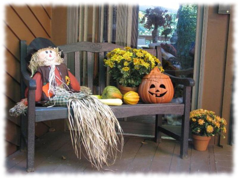 Decoración de Halloween para Banco de Exteriores