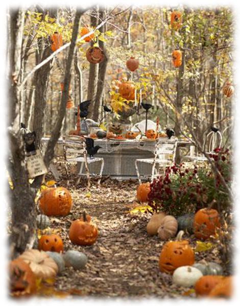 Decoración de Halloween para Mesa de Jardín
