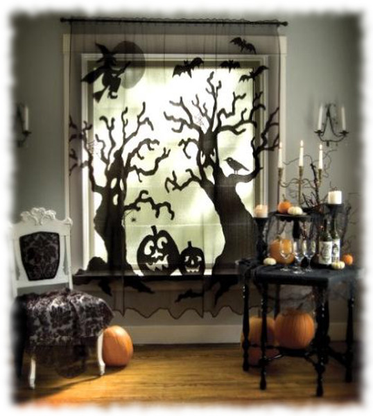 Decoración de Halloween Composición para Ventana Interior