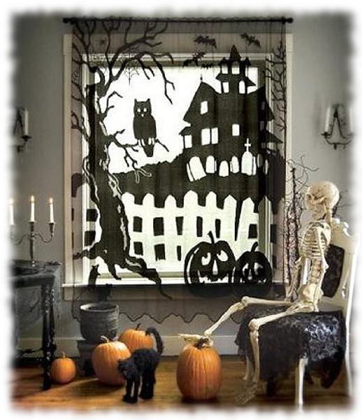Decoración de Halloween Composición para Ventana Interior