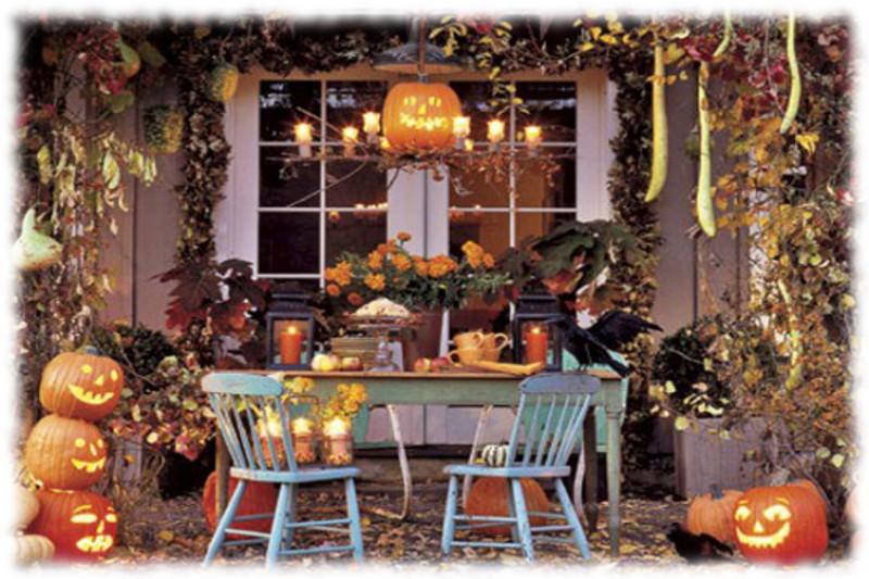 Decoración de Halloween Mesa para Exteriores