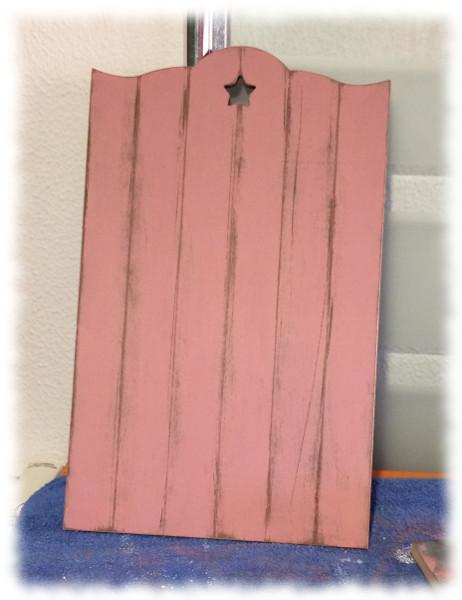 Transfer Imágenes de Comunión. Tabla DM pintada con pintura acrílica y decapado.