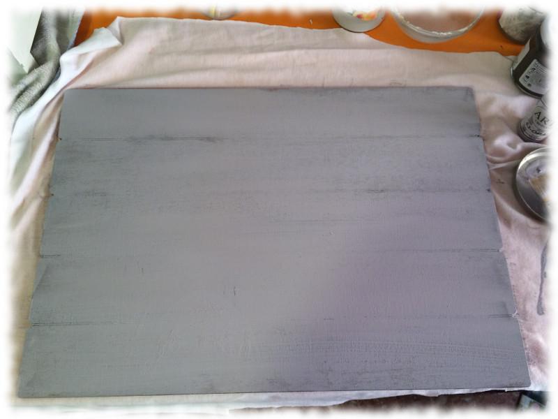 Transfer Imágenes de Comunión. Tabla DM pintada con pintura acrílica.