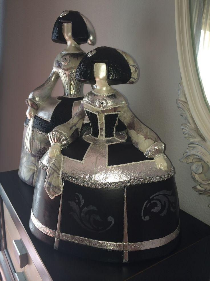figura de menina mediana decorada 2