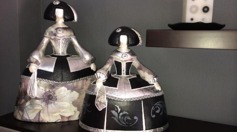 figuras de meninas decoradas